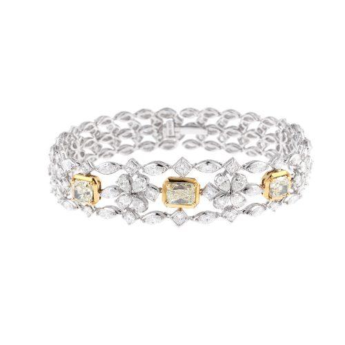 Multi Shape Diamonds Bracelet