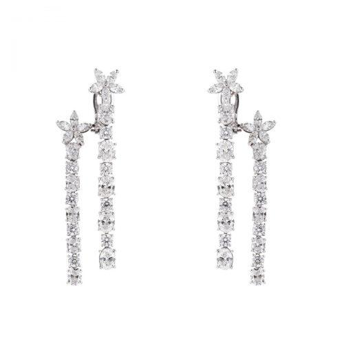Multi Shape Diamond Earrings