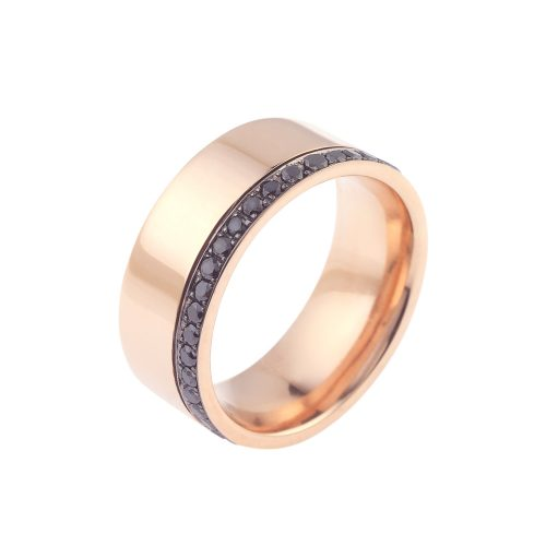 Wide Band With Black Diamond