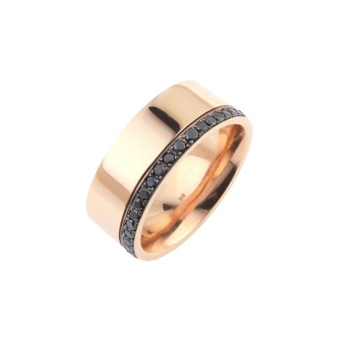 Wide Band With Black Diamonds