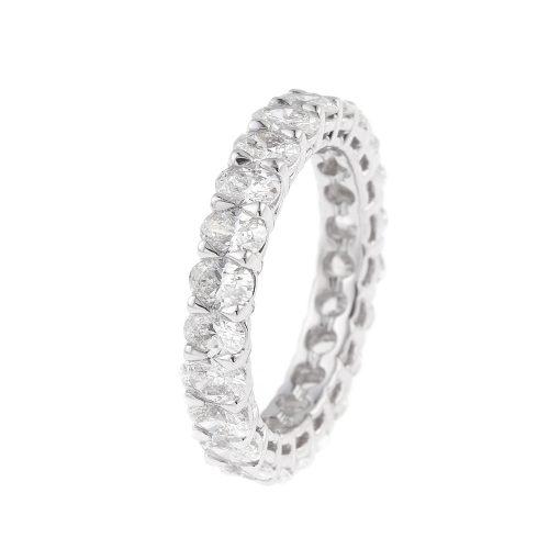 Oval Diamond Wedding Ring