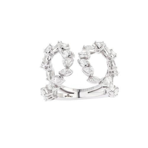 U Shape Diamond Ring