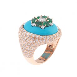 Turquoise Ring With Emerald