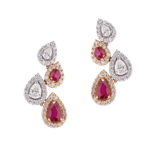 Chute Diamond Earrings