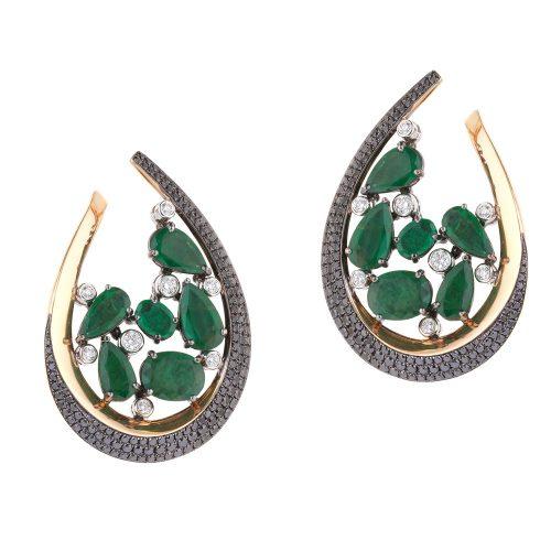 Emerald Diamonds Earrings