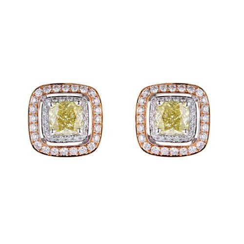 Square Shape Earring Diamond