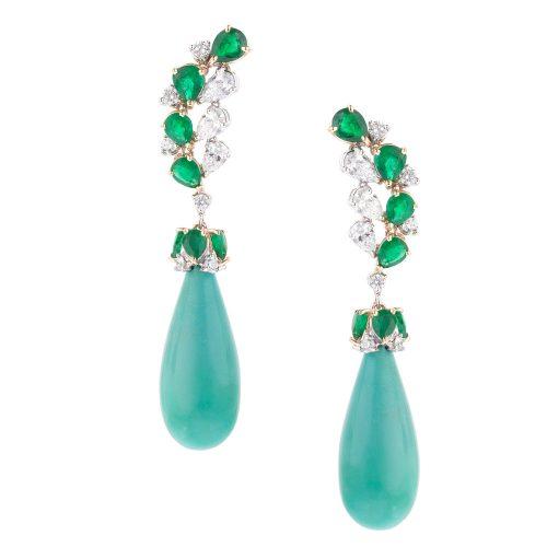 Turquoise Chute Earrings